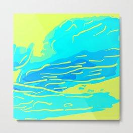 abstract style aurora borealis absbryi Metal Print