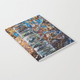 Birch Trees with Palette Knife by OLena Art for @society6 Notebook
