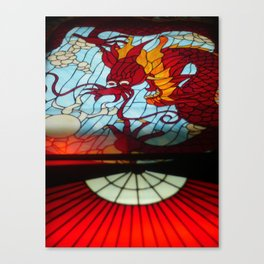 Dragon Stained Glass Canvas Print
