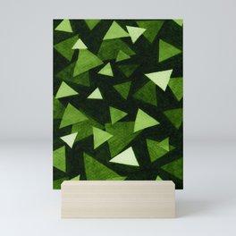 Triangular 2 - Green Mini Art Print