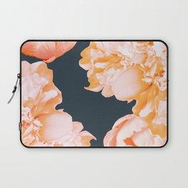 Peach Colored Flowers Dark Background #decor #society6 #buyart Laptop Sleeve