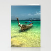 thailand Stationery Cards featuring Thailand Longboat by Adrian Evans