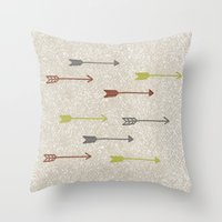 be brave Throw Pillows featuring BRAVE by Lex Bleile