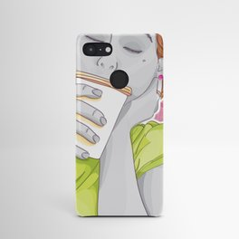 She enjoys coffee Android Case