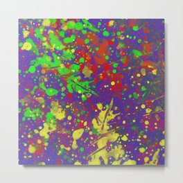 Expr3ss Y0ur5e1f - Expressive, abstract colour splatter painting Metal Print