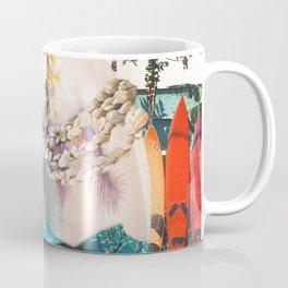 Aloha Axolotl On Hawaiian Beach Coffee Mug