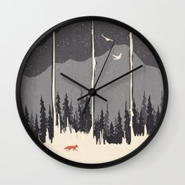 Winter Mountain Weather... Wall Clock