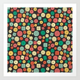 The other buttons... Art Print