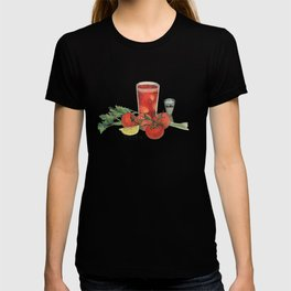 cocktail recipe pattern_ bloody mary T-shirt