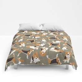 beagle scatter stone Comforters