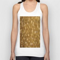 gold glitter Tank Tops featuring Gold Glitter 1323 by Cecilie Karoline
