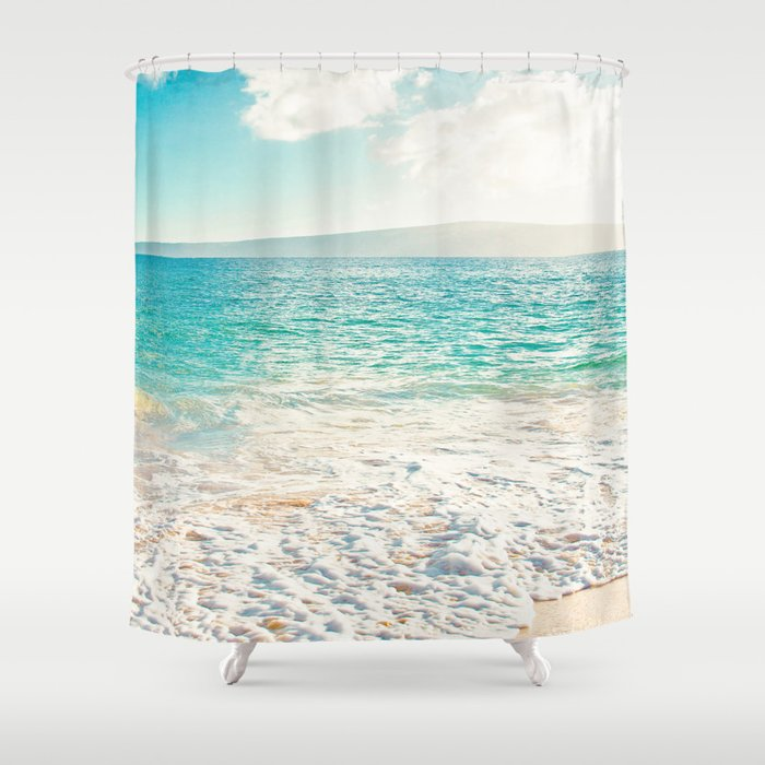 Big Beach Shower Curtain by sharonmau | Society6