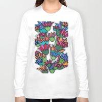 leah flores Long Sleeve T-shirts featuring Flores by Carolina Delleteze