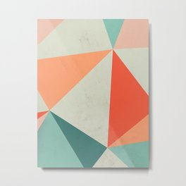 Abstract Triangle Metal Print