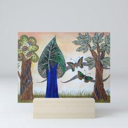 Butterflies in love II Mini Art Print