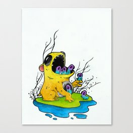 Mouth Monsters Canvas Print