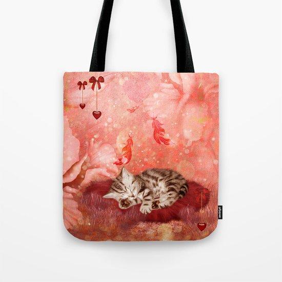 Cute little kitten Tote Bag