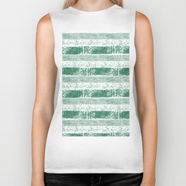 Pastel green watercolor paint brushstrokes confetti stripes Biker Tank