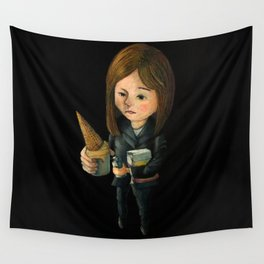 Hello Melted Coffee Ice Cream Wall Tapestry