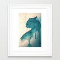 panther Framed Art Prints featuring Panther by elisacalderoni92