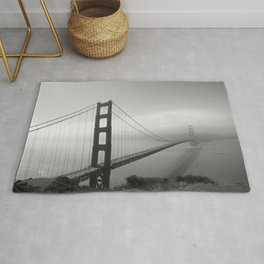 The Golden Gate Bridge In A Mist Rug