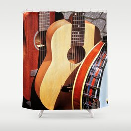 Strings Attached Shower Curtain