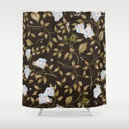 Elegant Victorian Vines and Flowers Shower Curtain