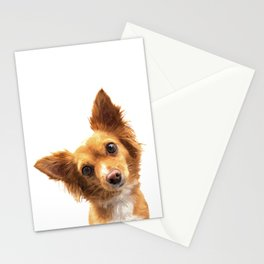 Curious Dog Portrait Stationery Cards