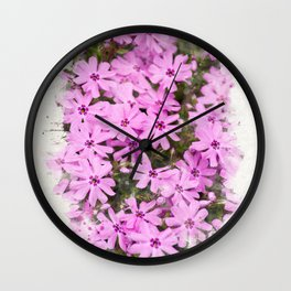 Watercolor Phlox Wall Clock