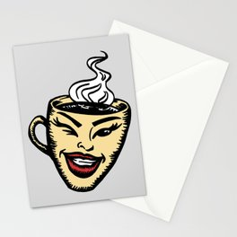 Hot cup of coffee Stationery Cards