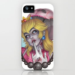 Zombie Peach iPhone Case