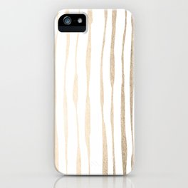 White Gold Sands Ink Pinstripes iPhone Case