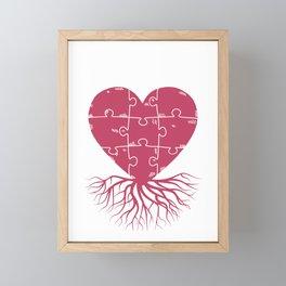 Genealogy Heart Roots Family Tree Gift Framed Mini Art Print