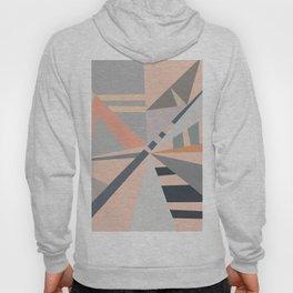 Modern pastel coral gray geometric pattern Hoody