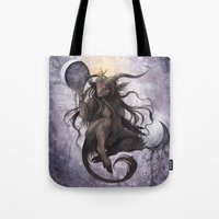 baphomet Tote Bags featuring Baphomet by Savannah Horrocks