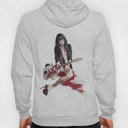 aGirl w/guitar&lilyTattoo Hoody