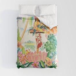 Vintage Hawaiian Travel Poster Comforters