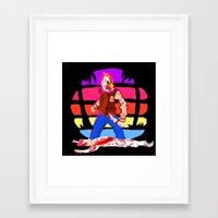 hotline miami Framed Art Prints featuring Hotline Miami Richard  by Allan Valdez