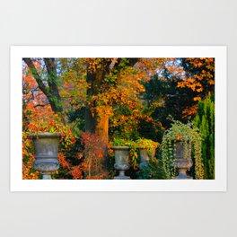 Autumn Urns Art Print