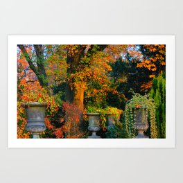 Autumn Urns Art Print