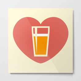 Love for Pints Metal Print
