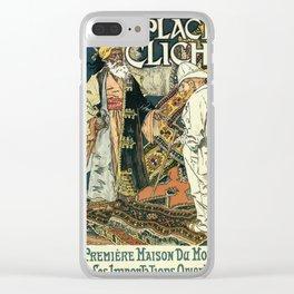 A la Place Clichy Paris 1891 Clear iPhone Case