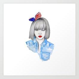 Coquette! Art Print