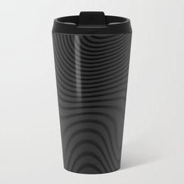 Organic Abstract 02 BLACK Travel Mug