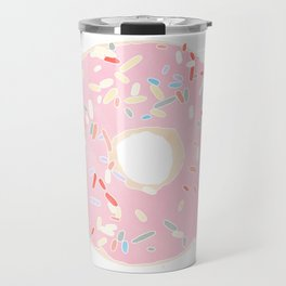 pink donut Travel Mug
