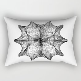The Calabi-Yau Manifold - White Rectangular Pillow