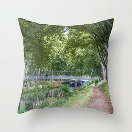 Foreshortening in the historical town of Toulouse, southern France Throw Pillow