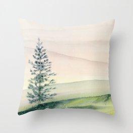 Somewhere Far Away Throw Pillow