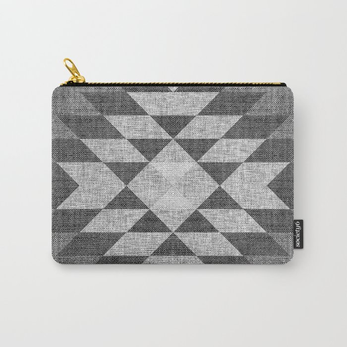 GREY DIAMOND LINEN Carry-All Pouch