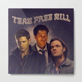 Team Free Will - Supernatural Metal Print